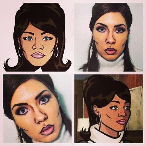 caricatura maquillaje