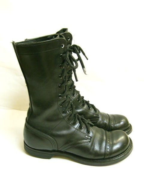 Vintage 80s Black  Punk Grunge  COMBAT BOOTS  by TimeBombVintage, $49.00