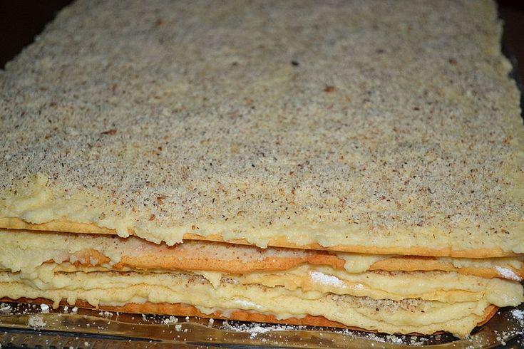 O prajitura cu foi si crema,