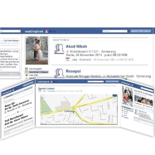A Wedding Card Which Has Design Like Facebook Undangan Model Desain Percetakan Pinterest And Weddings