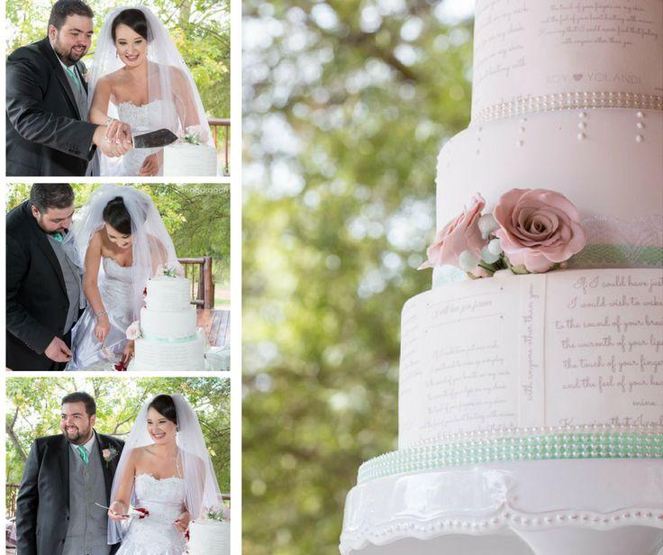 poetry cake with antique gumpaste roses