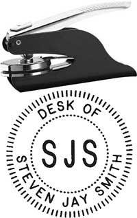 Desk Of Custom Seal
