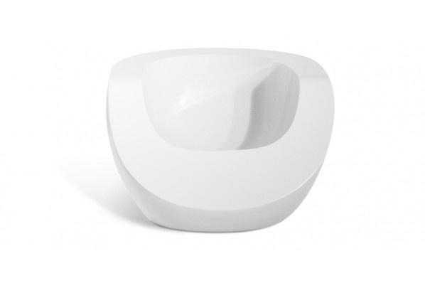 fauteuil design et laqu moon chair blanc sur myfab chaises fauteuils etc pinterest. Black Bedroom Furniture Sets. Home Design Ideas