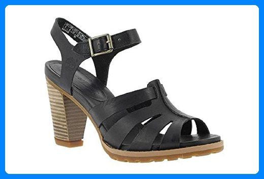 Timberland EK Damen Sandalen Stratham Heights 41, UK 7.5 schwarz - Sandalen für frauen (*Partner-Link)