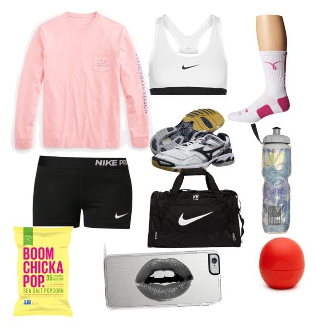 """Volleyball practice"" by sierrah-2 on Polyvore featuring NIKE, Vineyard Vines, Mizuno, Victoria's Secret, Eos and Lipsy"