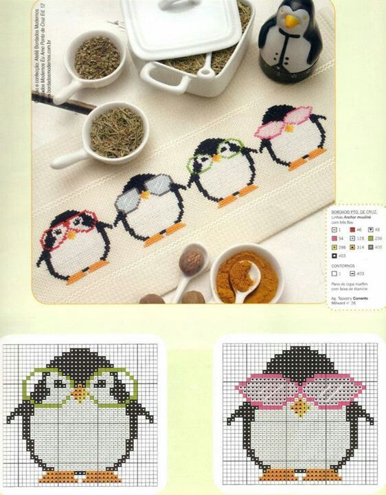 Penguin cross stitch