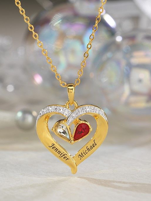 492450fc692 Forever Together Birthstone & Diamond Heart Pendant in 2019 | Gifts for Mom  | Diamond, Pendants, Birthstones