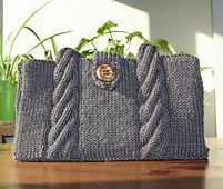 Ravelry: Marshmallow Twist Shoulder Bag pattern by Wendy Peterson