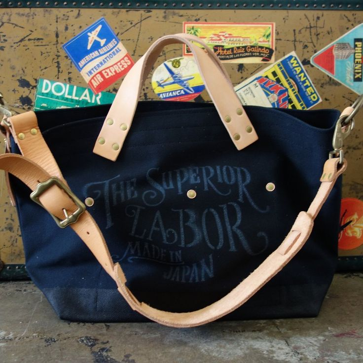 The Superior Labor / Engineer Shoulder Bag with BLACK Canvas [CUSTOM ORDER]