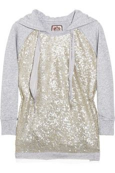 sparkly hoodie, comfy and cute:)what if you somehow replaced the strings with lacy strings?? cuute