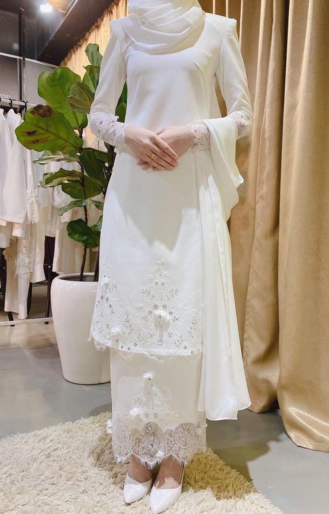 Baju Akad Nikah Muslimah Simple