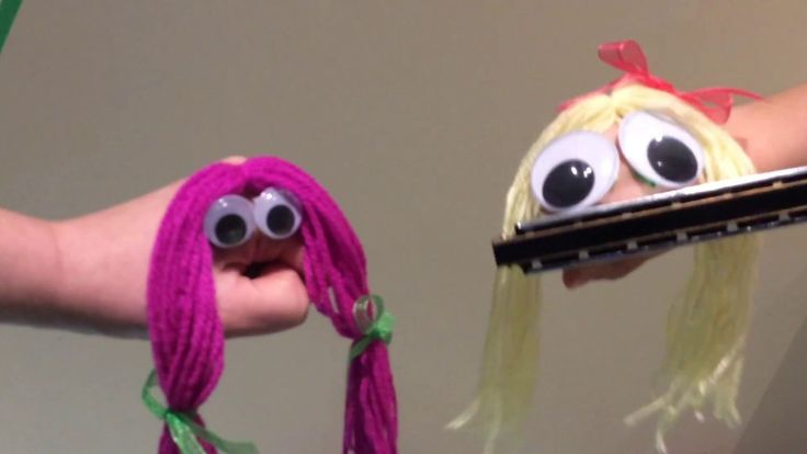 HAND PUPPET SHOW FOR CHILDREN - Goldie Plays The Harmonica