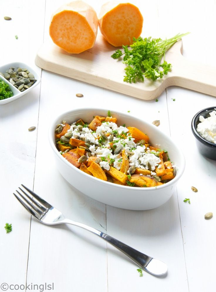 Roasted Sweet Potatoes With Feta Cheese Recipe