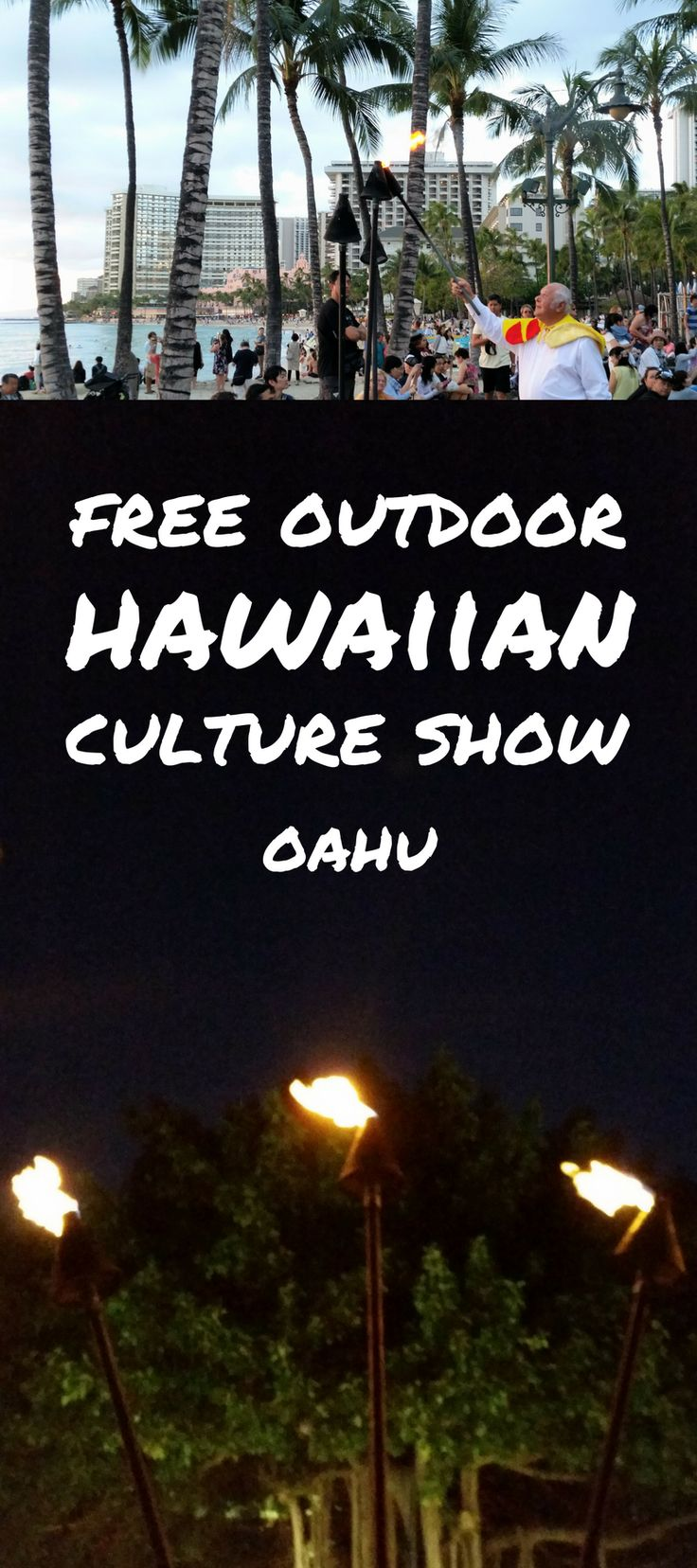 For free things to do on Oahu that gives a taste of Hawaii culture activities, have a look at a hula show on the beach in Waikiki with authentic Hawaiian music and dancers! Taking place in the evening at sunset on the beach, it's the perfect end to a day full of adventure after hiking that makes for a family-friendly activity near Honolulu and Waikiki shopping and food restaurants during Hawaii vacation.. #hawaii #oahu #waikiki
