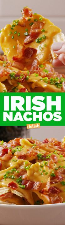 The cheese sauce on these Irish Nachos is better than a pot of gold. Get the recipe from Delish.com.