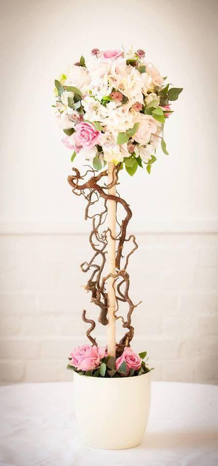 Topiary wedding centrepieces