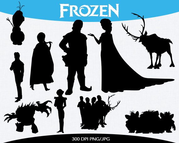 Frozen Instant Download silhouette cilipart by pinkykatieclipart