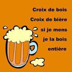"""Sous-bock """" croix de bois croix de bière si je mens je la bois entière """""""