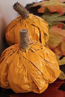 newspaper pumpkins