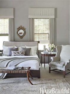 King Bed Between Narrow Windows