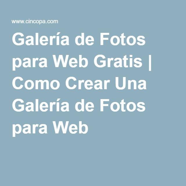 Galería de Fotos para Web Gratis   Como Crear Una Galería de Fotos para Web
