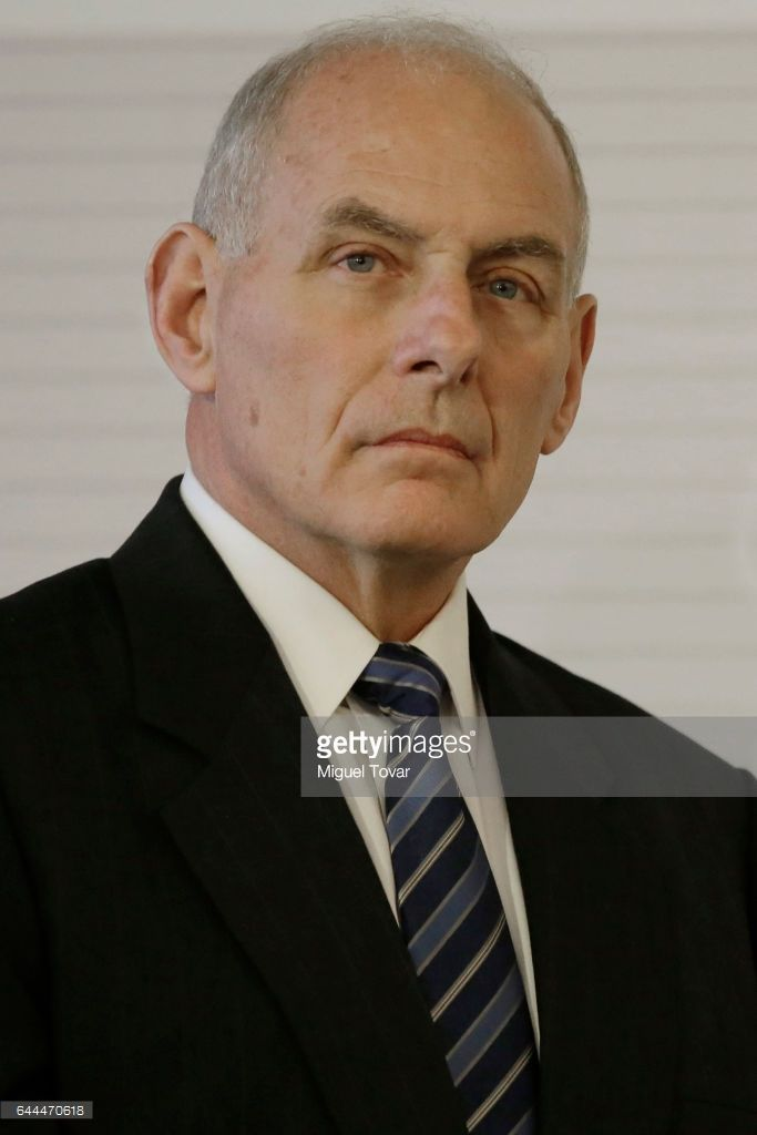 U.S. Homeland Security Secretary John Kelly looks on during a press conference at the Mexican Chancellery on February 23, 2017 in Mexico City, Mexico. Rex Tillerson and Luis Videgaray Caso met to discuss fronteer security issues, justice and commerce cooperation between Mexico and the US.