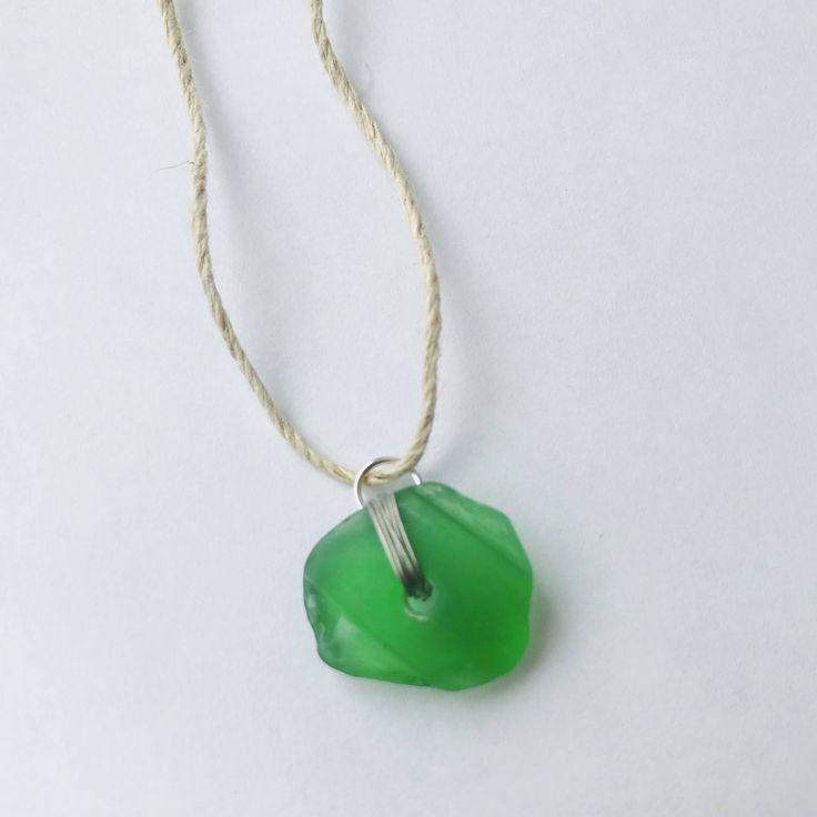 Beachglass Necklace by KarynCooperDesigns on Etsy https://www.etsy.com/ca/listing/549774900/beachglass-necklace