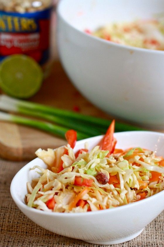 Spicy Crunchy Asian Slaw | All Things Veggie | Pinterest