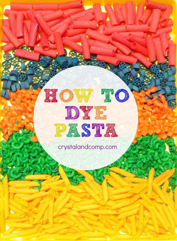 Pasta Crafts for Kids How to Dye Pasta http://crystalandcomp.com/2014/07/pasta-crafts-for-kids-how-to-dye-pasta/