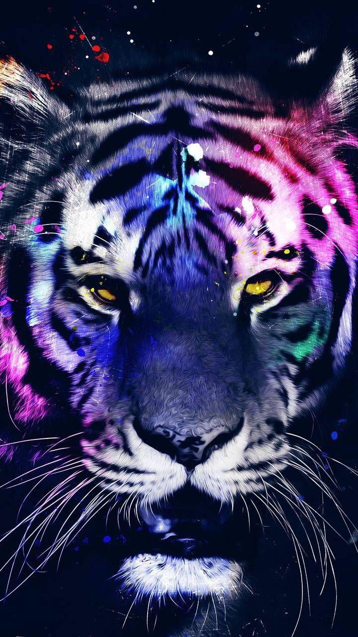 Neon Masks Iphone Wallpaper Iphone Wallpapers Iphone Wallpapers Tiger Wallpaper Iphone Tiger Art Wild Animal Wallpaper