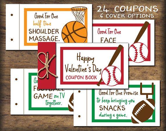 Sports Fan Coupon Book. PDF instant download. DIY printable
