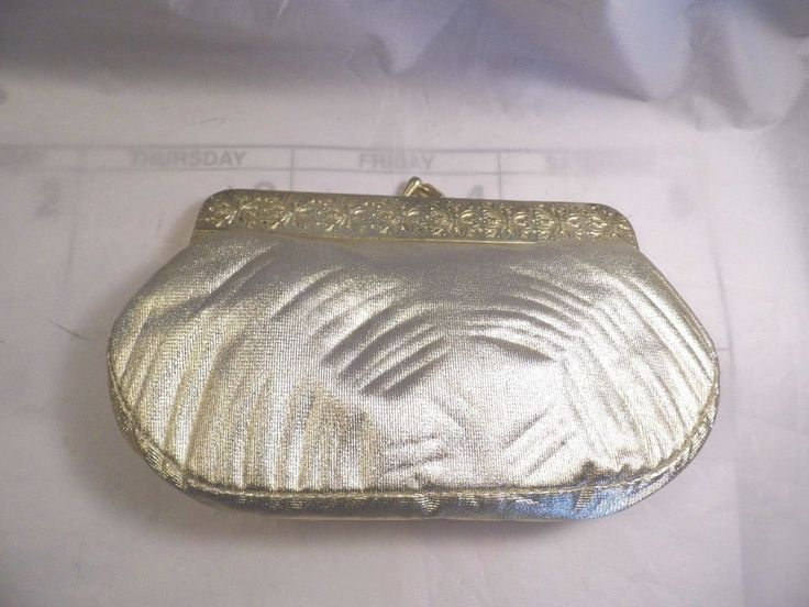 Gold Vinyl Padded Change Purse Brand New With Tissue Paper still in it. #6 #Unbranded #ChangePurse