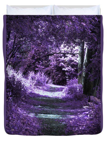 Enchanted Way Purple Duvet Cover - Twin to King Sizes