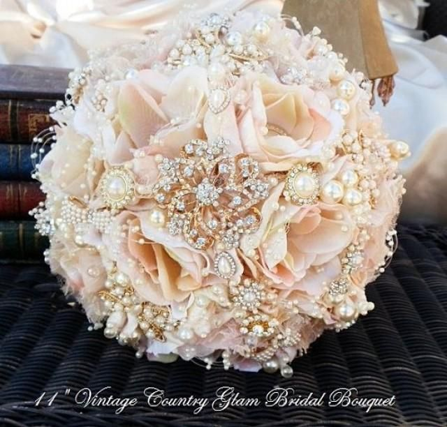 ROSE GOLD Brooch Bouquet-DEPOSIT for by Elegantweddingdecor                                                                                                                                                      More