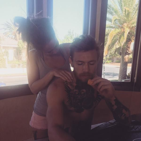 intimate moment between Conor McGregor & girlfriend Dee Devlin : if you love #MMA, you'll love the #UFC & #MixedMartialArts inspired fashion at CageCult: http://cagecult.com/mma