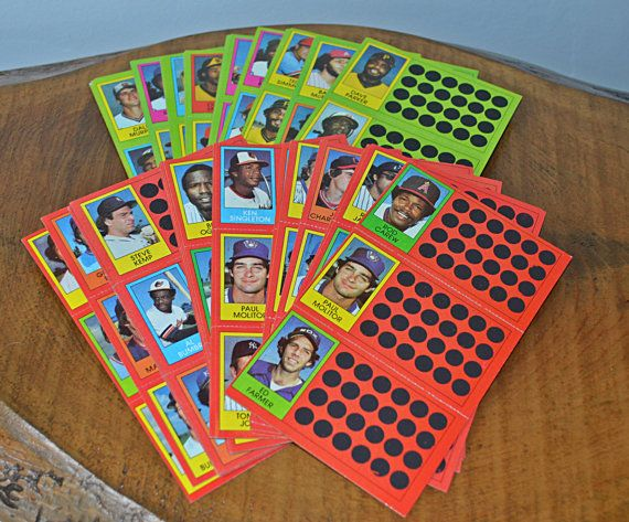 Two Sets of 1981 Topps Scratch Off Card Panels Baseball