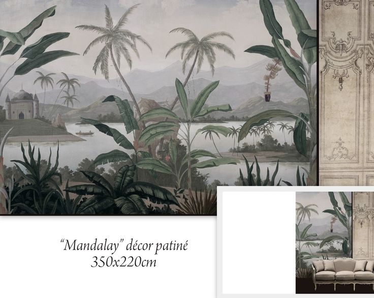 52 best west indies british colonial art images on for Colonial mural wallpaper