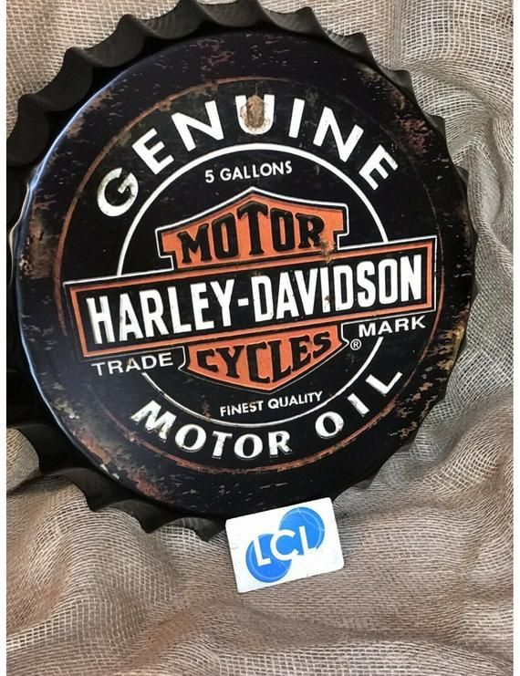 1 X Industrial Look 40cm Metal Tin Harley Davidson Bottle Top In 2020 Harley Davidson Decor Harley Davidson Metal Tins