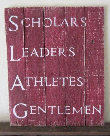 Scholars, Leaders, Athletes, Gentlemen SLAG Pi Kappa Alpha Fraternity Barn Wood Sign on Etsy, $45.00