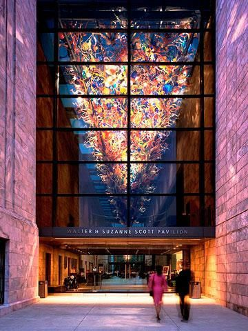 Joslyn Art Museum: A striking pink marble facade marks the Art Deco-Era institution. 14 Highlights of Omaha, Nebraska.