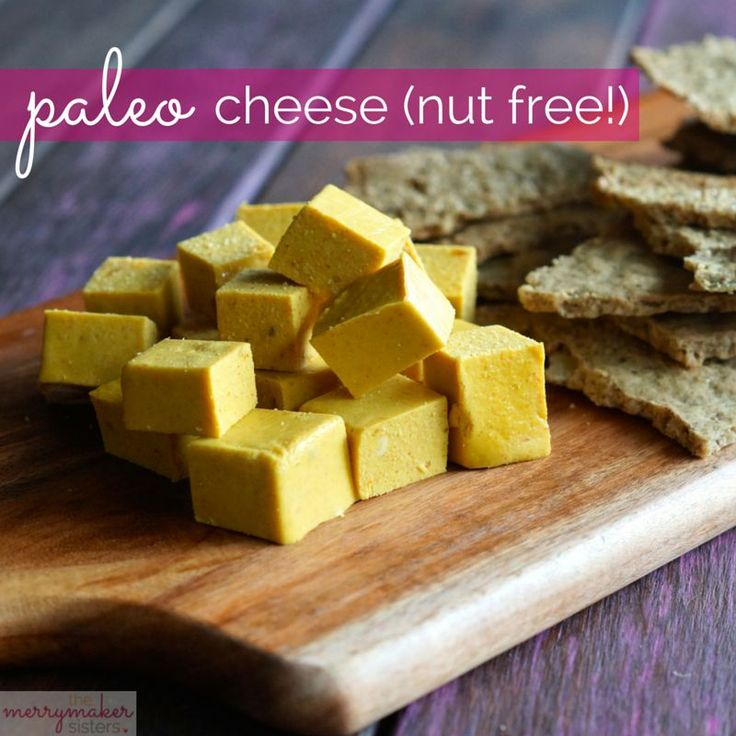 Gluten and Sugar free paleo cheese nut free - from The Merrymaker Sisters