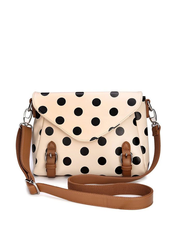 Polka dot crossbody bag, I've a had a slight obsession with polka dots lately. Can't. Stop.