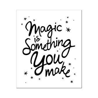 Poster Magic-Zwart-wit - Wanddecoratie