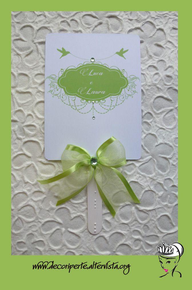 personalized wedding fan