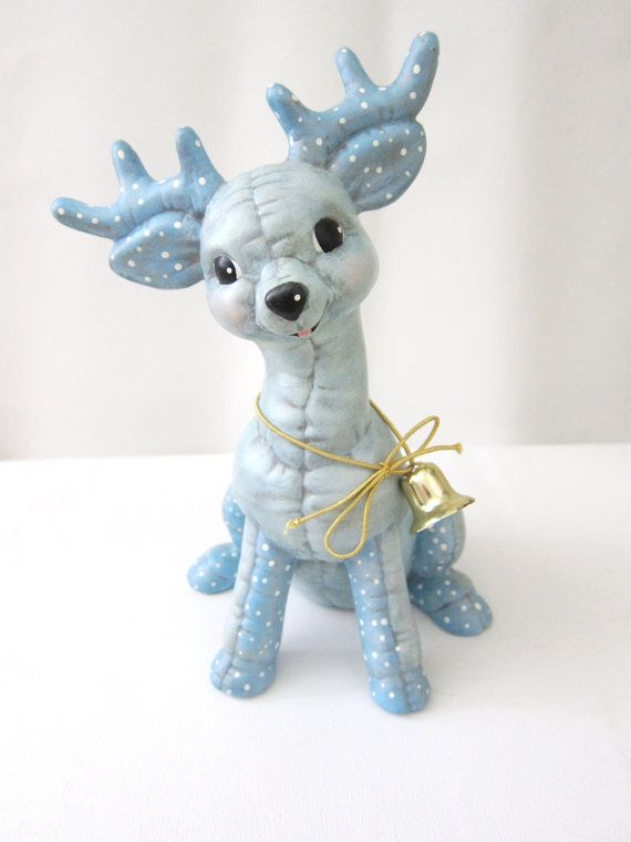 Cute Vintage Reindeer by HardFinds on Etsy, $15.00