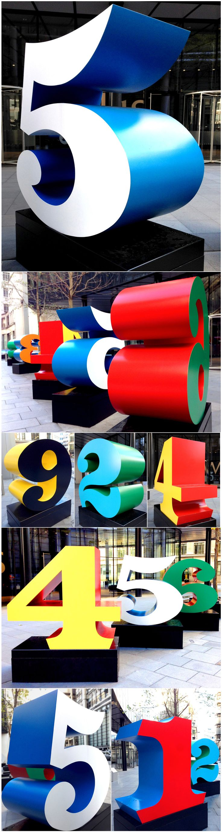 """Numbers"" is a piece by Robert Indiana."