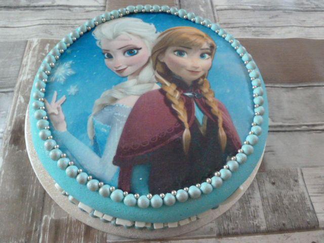 Anna en Elsa taart