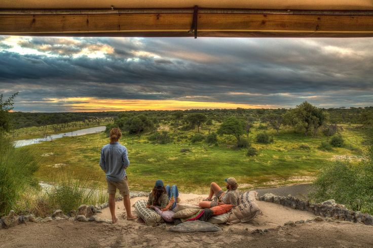 Your view, overlooking the Boteti River