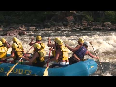 White water rafting & bungee jumping on the Ottawa river.