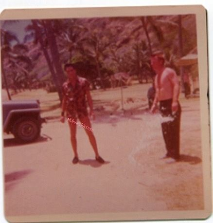 Blue Hawaii '61 candid Source Elvis Collectors purchase from eBay by user ArtyMorty